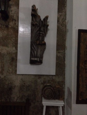 Basilica of St. Martin de Tours: Preserved molding from the front column of the church that fell during a storm