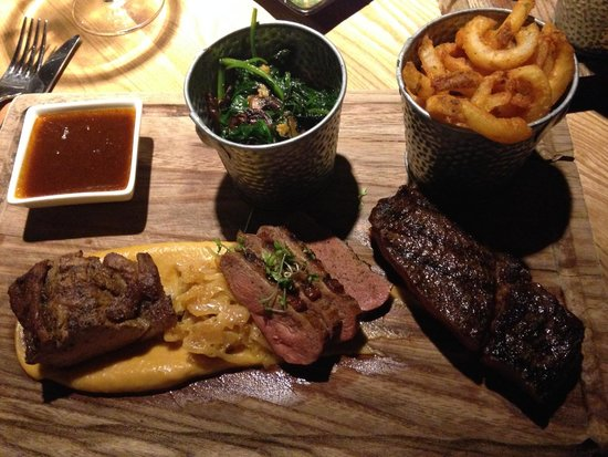 Grillmarkadurinn : The Meat Gourmet — lamb, duck, beef and an out-of-place order of fries.