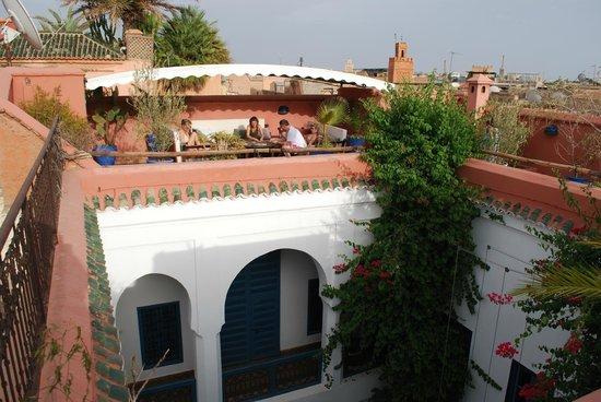 Riad Sekkat: la terrasse tres agréable le soir