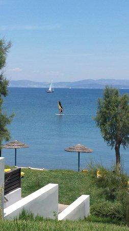 Sensimar Oceanis Beach & Spa Resort: View from lunch taverna