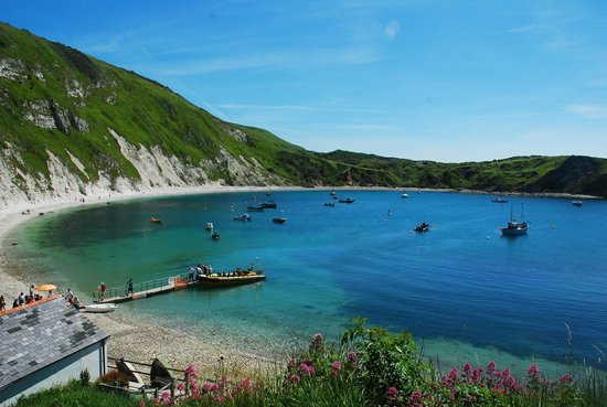 Lulworth Cove and Durdle Door : Lulworth Cove From Above