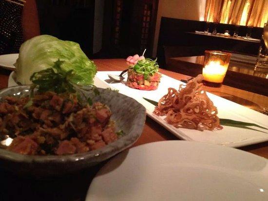 Kittichai : Thai Sausage Wraps and Tuna Tartar
