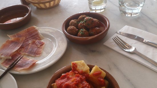 Pulpito-The Spanish Tapas Bar & Kitchen: meatballs and 18 month spanish cured ham
