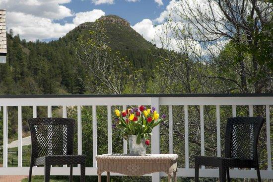 Antlers on the Creek Bed & Breakfast : Lightner Creek Suite deck