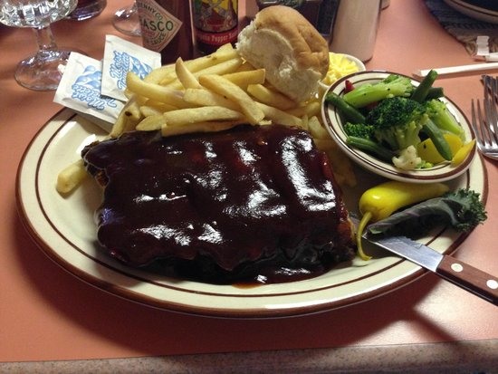 Goulding's Lodge & Campground: HALF of the rack of ribs I ate!