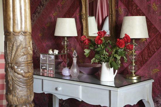 Ednovean Farm: A silk wall hanging and hand finished dressing table
