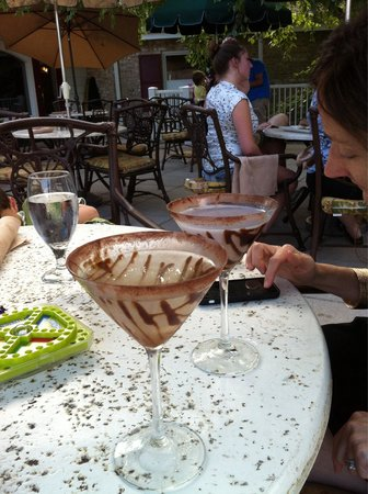 The Forebay: Chocolate Martinis on the deck.