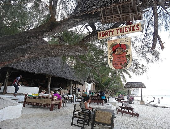Diani Beach : restaurant Forty thieves