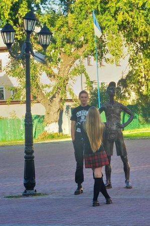 A Tourist Statue