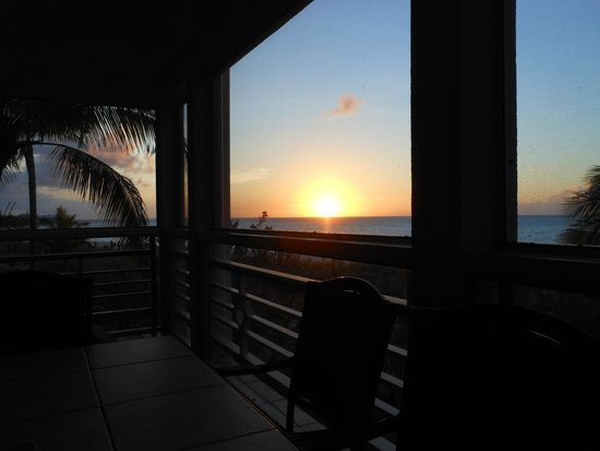 Ocean Club West: Sunset from the Deck