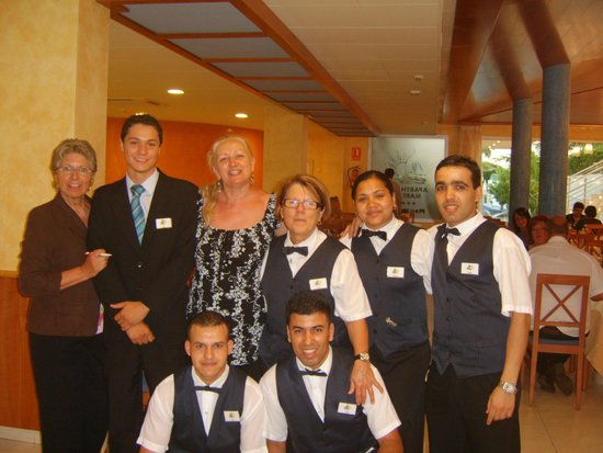 Montemar Maritim: the staff at the restaurant