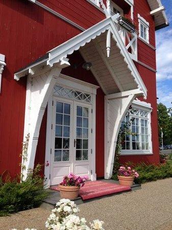 Dyvig Badehotel: det smukke indgangs parti
