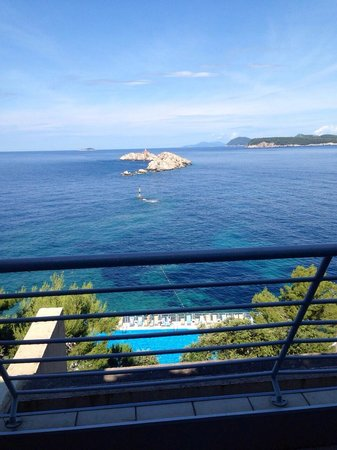 Hotel Dubrovnik Palace : Room balcony view
