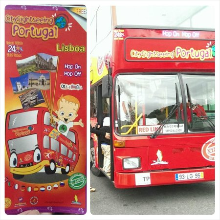 City Sightseeing Lisbon : Hop on, Hop Off bus and brochure