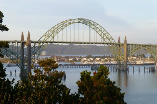 Port of Newport RV Park: The RV park is visible from the Yaquina Lighthouse bluff, and we can see our house from here!