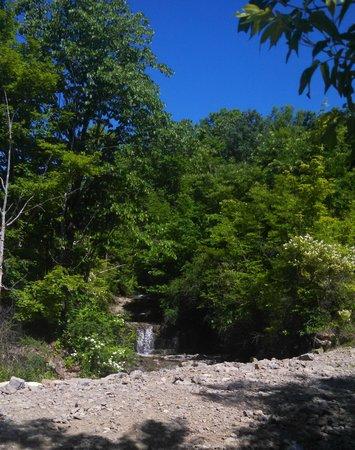 Herkimer KOA Campground: Waterfall at the mine