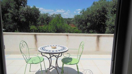 Masseria Asciano : veduta dalla camera su terrazzo
