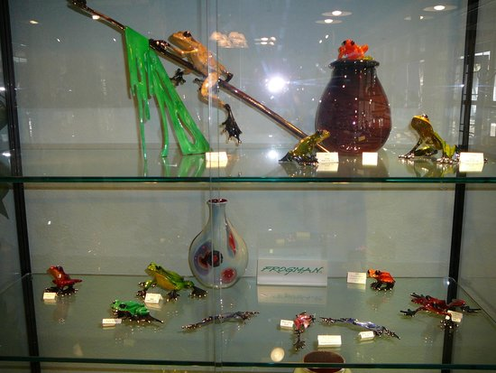 Covered Bridge in the Glades: Frogman at J. Hills Glass