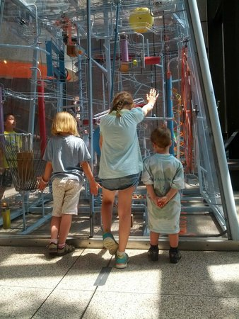 Museum of Science : Kinetic sculpture can capture the kid's attention for a long time!