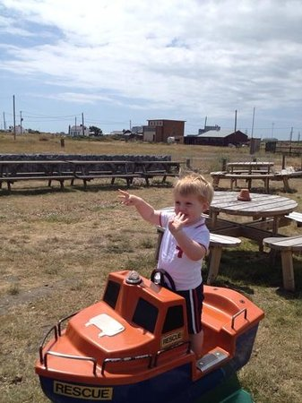 The Pilot Inn: Grandson having a great time.