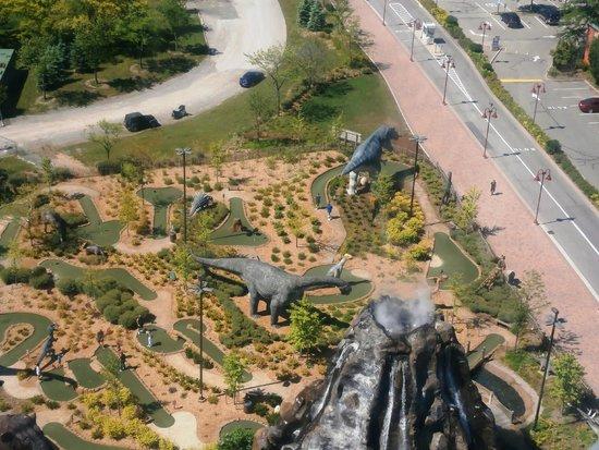 Dinosaur Adventure Golf: From above