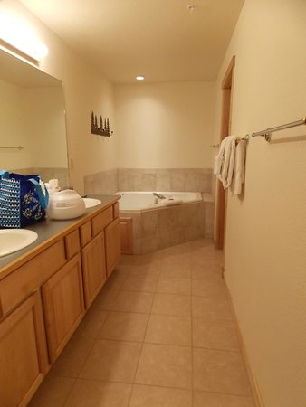 Grand Timber Lodge: Master bathroom (tub and sinks)