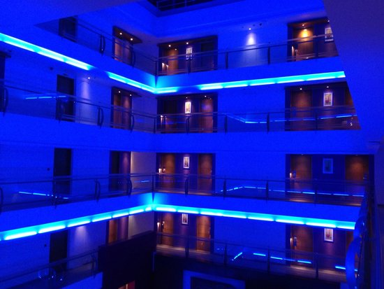 The Regenza by Tunga : Lit up corridors...at night