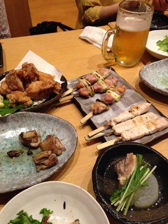 Charcoal Grilled Chicken Goroichi: コース料理の一部