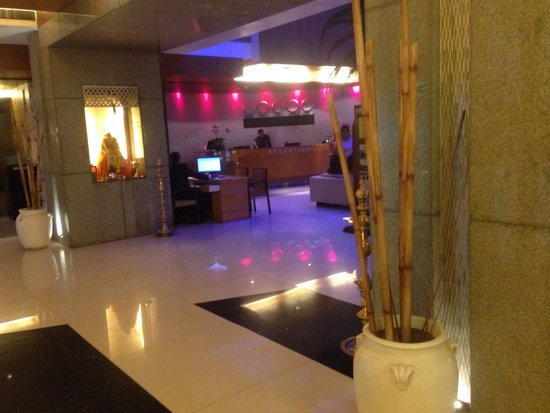 The Regenza by Tunga : Changing colors at the reception / front desk...no pun intended!!