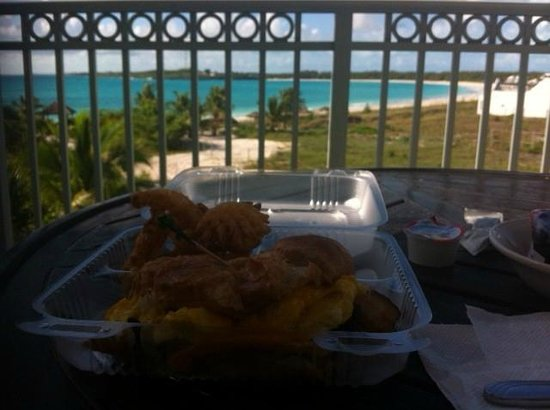 Grand Isle Resort & Spa : Breakfast on Ocean View Balcony
