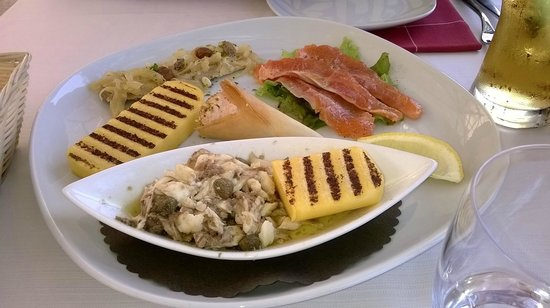 Osteria del 4: Fischvariationen zum Mittagessen, sehr lecker!