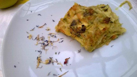 Osteria del 4: Vegetarische Lasagne - Primi Piatti Weddingmenu
