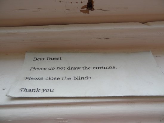 Newstead Guest House: Do Not Again