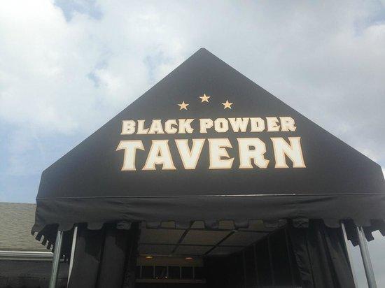 Black Powder Tavern Sign