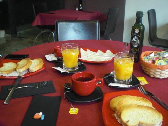 Hostal Alcala del Jucar: Het ontbijt
