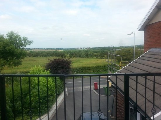 Ingleside House: Reebok Stadium just off M61 in the far distance.
