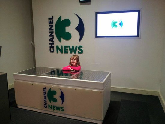 Imaginosity: One of my kids trying out the TV Studio