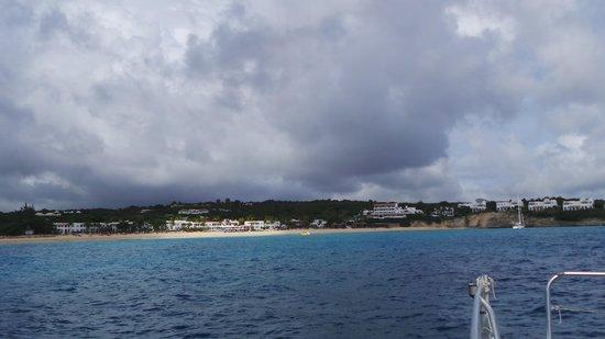 Belmond La Samanna : View of La Samanna from the boat