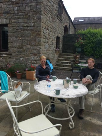 Quarryside: Enjoying some coffee on the back patio