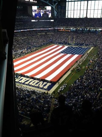 Lucas Oil Stadium tribute to Vet's Day Nov 2013