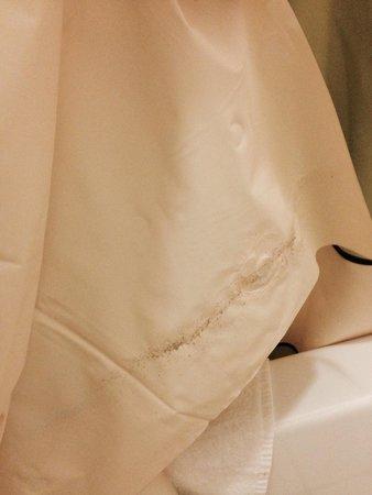 Fairfield Inn Hays: Scum on shower curtain.