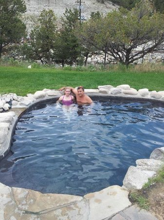 Mount Princeton Hot Springs Resort: Cascade pools in spa area (one of three varying in temp)