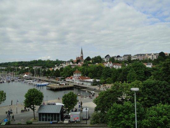 Arcadia Hotel Flensburg: Foto tirada da partir da janela do quarto