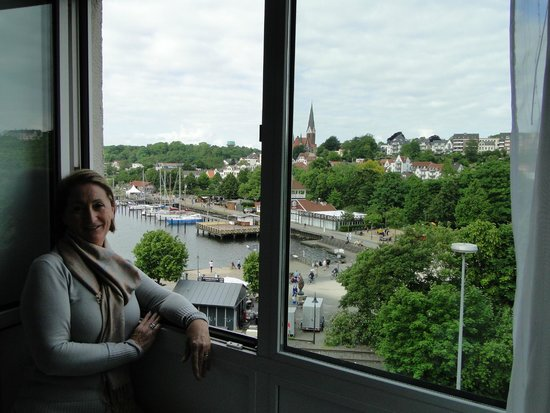 Arcadia Hotel Flensburg : Foto tirada da partir da janela do quarto