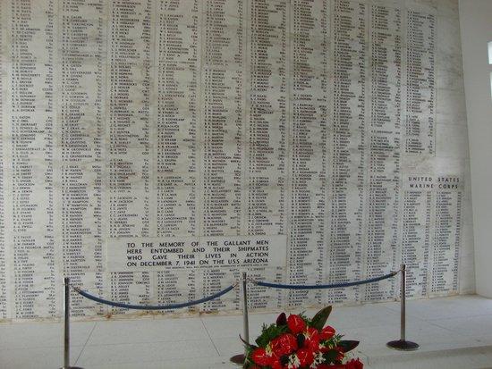 USS Arizona Memorial: The Long Long List