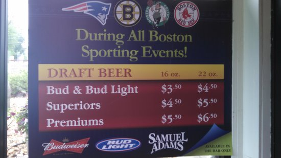 Cactus Jack's: Boston sports specials