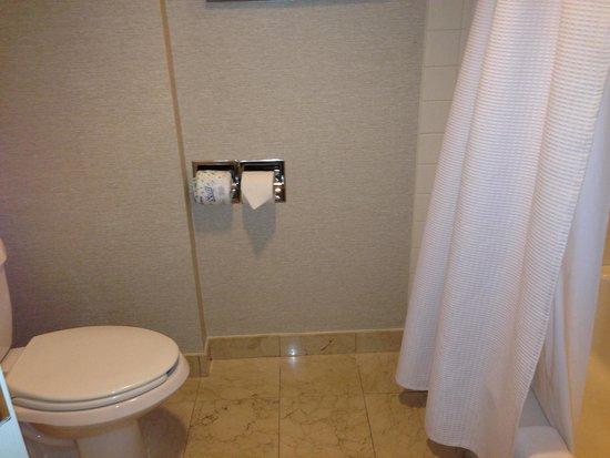 Norfolk Waterside Marriott: older bathroom - requires future upgrading