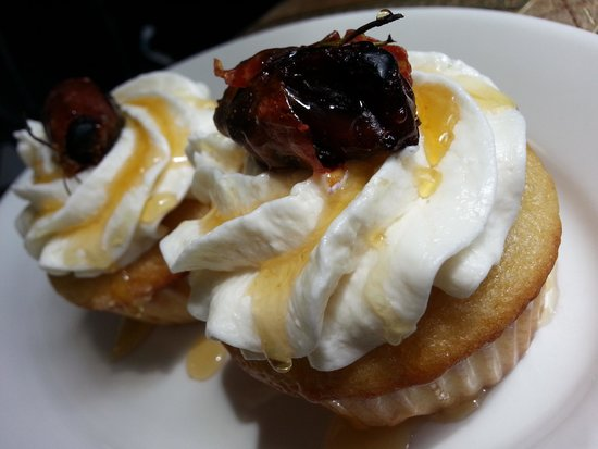 The Peppered Cupcake: Chevre with Proscuitto wrapped Date & Rosemary