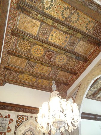Beit Eddine: ceiling made out of cedars from Lebanon