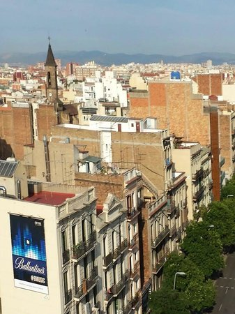 Catalonia Barcelona Plaza: view from roof top round the back